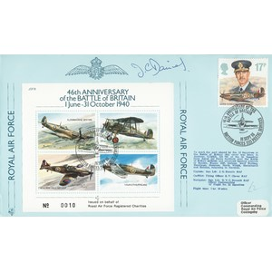 1986 Battle of Britain 46th - Flown and signed by pilot J G Daniels