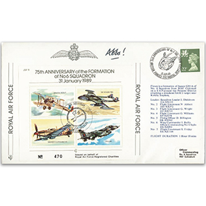 1989 75th Anniversary No.6 Squadron - Flown and Signed by N Abbott