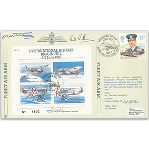 1987 Biggin Hill Air Fair - Flown cover signed by M Dunkerly and W Randle