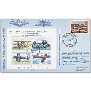 1993 Battle of Britain Open Day RAF Finningley - Flown cover, signatures include S M Clarke