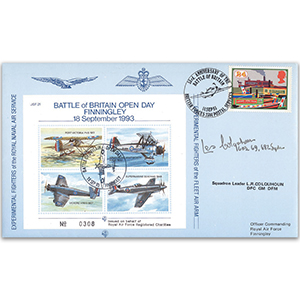 1993 Battle of Britain Open Day RAF Finningley - Signed by L Colquhoun DFC