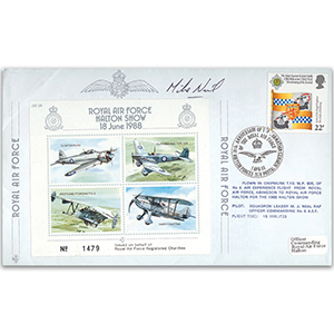1988 RAF Halton Show - Flown cover signed by M Neil
