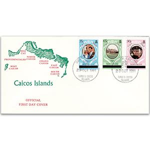 1981 Caicos Islands - Royal Wedding Official