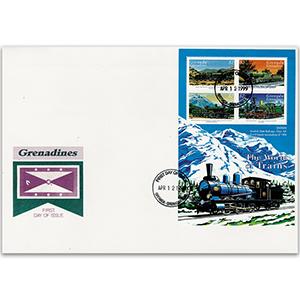 1999 Grenada, Grenadines - World of Trains, Sweden