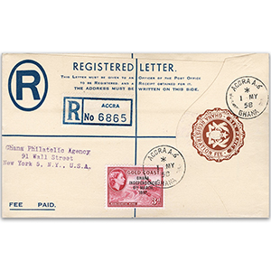 1958 Ghana Independence Registered Cover