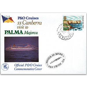1981 P & O Official Cover - Canberra to Palma