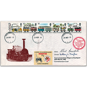 1980 Railways Lion Carried Cover - Signed