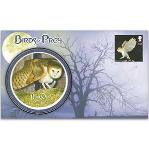 2003 Birds of Prey: Barn Owl - Sandy, Bedfordshire handstamp