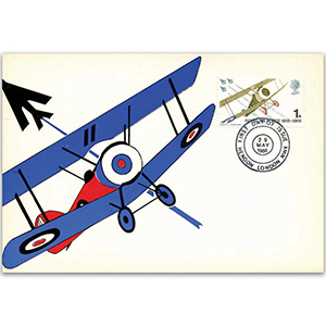 1968 50th Anniversary of the Royal Air Force Postcard - Hendon