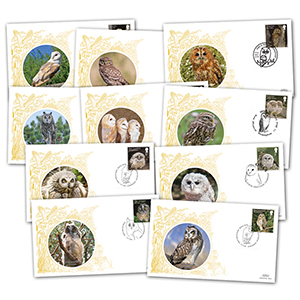 GB Owls Set of 10 covers