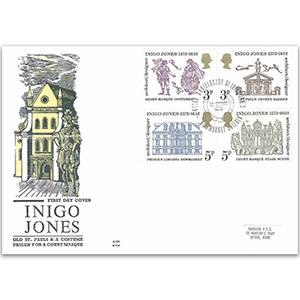 1973 Inigo Jones 400th Benham Engraved Cover
