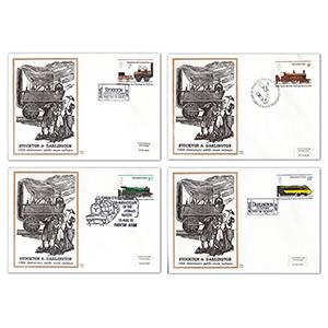 1975 Public Railways Benham Engraved Covers - Set of 4