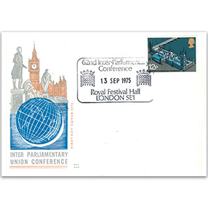 1975 62nd Inter-Parlimentary Union Conference Benham Engraved Cover