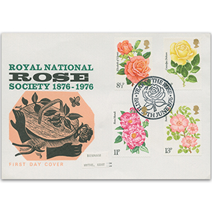 1976 Roses Benham Engraved Cover