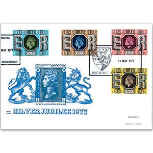 1977 Silver Jubilee Benham Engraved Cover