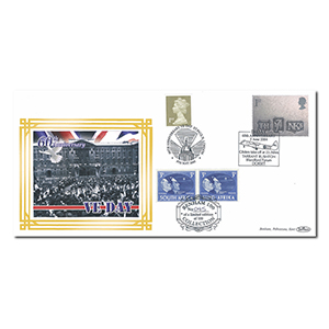 2004 D-Day 60th Benham 100 Cover - Doubled 2005 Dorset & London