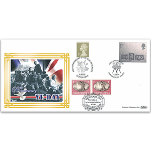 2004 D-Day 60th Benham 100 Cover - Doubled 2005 Portsmouth & Dover