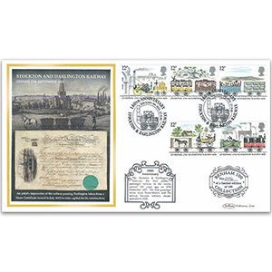 2005 Stockton and Darlington Railway 180th Benham 100 Cover