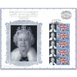 2006 HM The Queen's 80th Birthday Benham 100 Cover - Lenticular Portrait