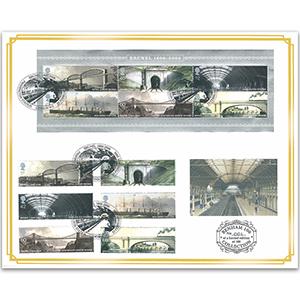 2006 Brunel M/S & Stamps Benham 100 Cover - Paddington