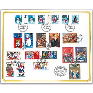 2006 40 Years of Christmas Stamps Benham 100 Cover