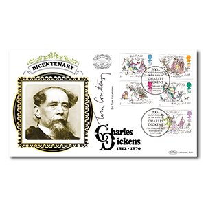 2012 Charles Dickens 200th Benham 100 Cover -  Signed by Sir Tom Courtenay