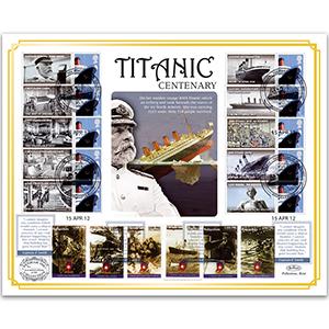 2012 RMS Titanic Centenary Benham 100 cover