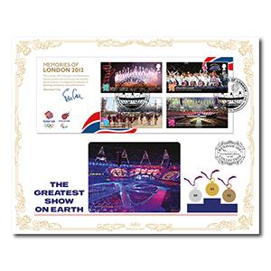 2012 Olympic/Paralympic Memories of London M/S Benham 100 Cover