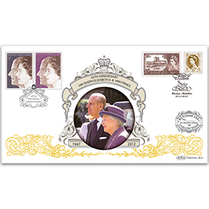 2012 65th Anniversary HM Queen and Prince Philip's Wedding Benham 100 Cover