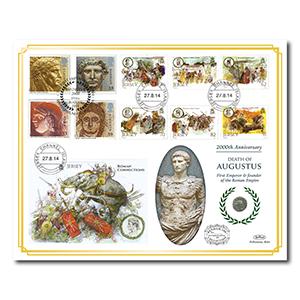 2014 Death of Augustus 2000th Anniversary Benham 100 Cover