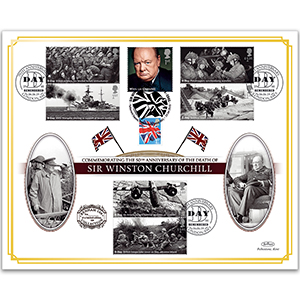 2015 Death of Winston Churchill 50th Benham 100 Cover - Doubled 2019
