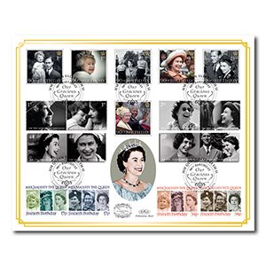 2016 Queen's 90th Bday Stamps Benham 100 Cover