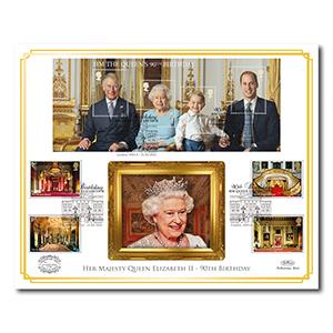 2016 Queen's 90th Bday M/S Benham 100 Cover