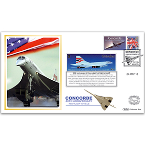 2016 40th Anniversary of Concorde's First Flight to the US Benham 100 Cover