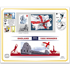2016 World Cup 1966 Winners Benham 100 Cover