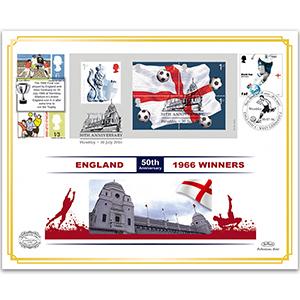 2016 World Cup 1966 Winners Benham 100 Cover