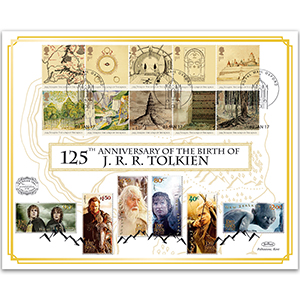 2017 J. R. R. Tolkien 125th Anniversary Benham 100 Cover