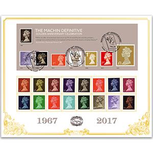 2017 Machin 50th Anniversary Benham 100 Cover