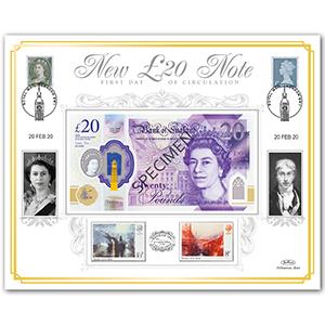 2020 New £20 Note 'Benham 100' Cover