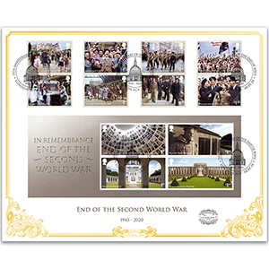 2020 75th Anniversary End of WWII 'Benham 100' Cover