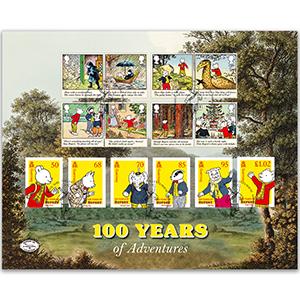 2020 Rupert Bear Stamps Benham 100 Cover