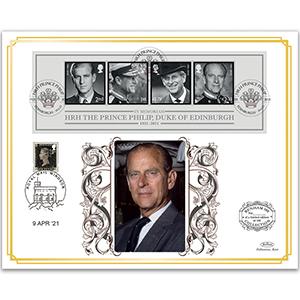 2021 HRH The Prince Philip, Duke of Edinburgh Benham 100s Cover