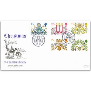 1980 Christmas British Library Cover - Bethlehem, Llandeilo