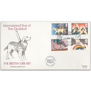 1981 Year of the Disabled British Library Cover - London WC