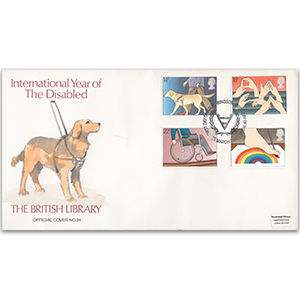 1981 Year of the Disabled British Library Cover - Windsor