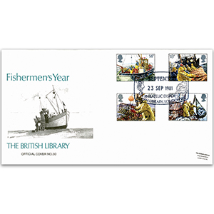 1981 Fishing British Library Cover - Fisherman's Year, London WC