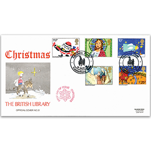 1981 Christmas British Library Cover - Canterbury 'Children First' Handstamp