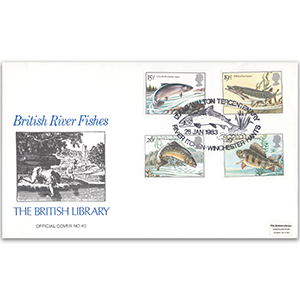 1983 British River Fish - British Library Cover - Fiver Itchen, Winchester