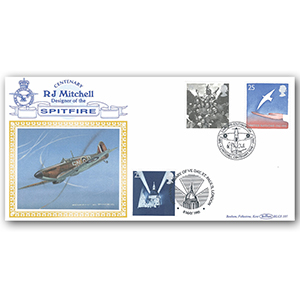 1995 Europa: Peace & Freedom BLCS - R J Mitchell Centenary - Doubled VE-Day 1995