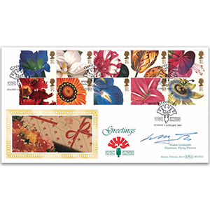 1997 Greetings: Flower Paintings BLCS - Signed by W Goldsmith